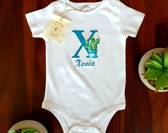X Boho Letter, Monogram, Custom, Personalized Shirt, Name Shirt, Tank Top, Coming Home Outfit, Mommy and Me Outfit, Birthday, Baby Shower