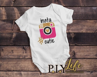 Baby |  #Insta Cutie Baby Bodysuit DTG Printing on Demand
