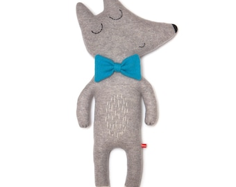 Mr Wolf Large Lambswool Plush Toy - Made to order