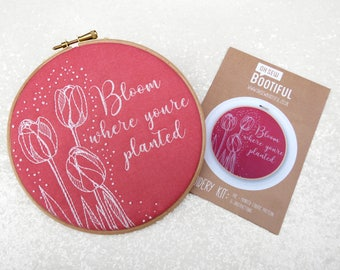 Tulips Embroidery Pattern, Spring Flowers Embroidery Pattern, Easter Embroidery Pattern, Bloom Where You're Planted, Needlework Pattern