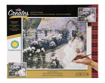 Plaid Creates Paint By Number Kit (16 by 20-inch), 60165 On the Terrace