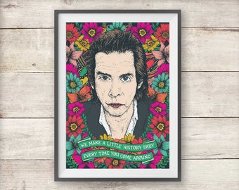 Nick Cave Print - The Ship Song Lyric - Valentine's - Birthday - Anniversary - Nick Cave Poster - Wall Art - Home Decor