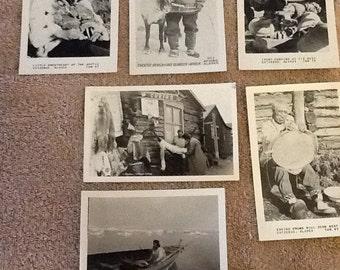 6 Vintage ALaksa Inuit Eskimo Photos