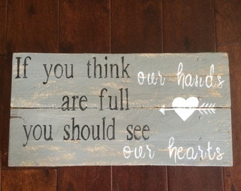 Full hearts sign