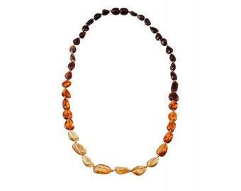 Baltic Colorful Amber Necklace Beads