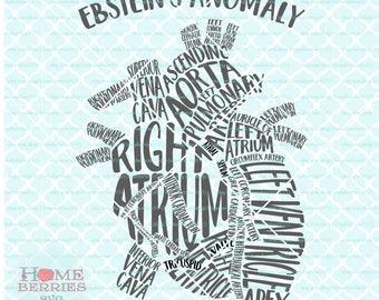 Heart Typography Etsy