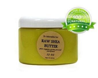 12 oz Raw Unrefined Shea Butter From Ghana