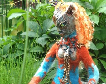 "OOAK  author's doll   Art   alien doll ""Orangeana"""