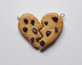 Friendship charm heart-shaped cookies