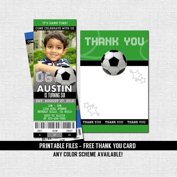 invitaciones de boleto de f u00fatbol free gracias tarjeta la