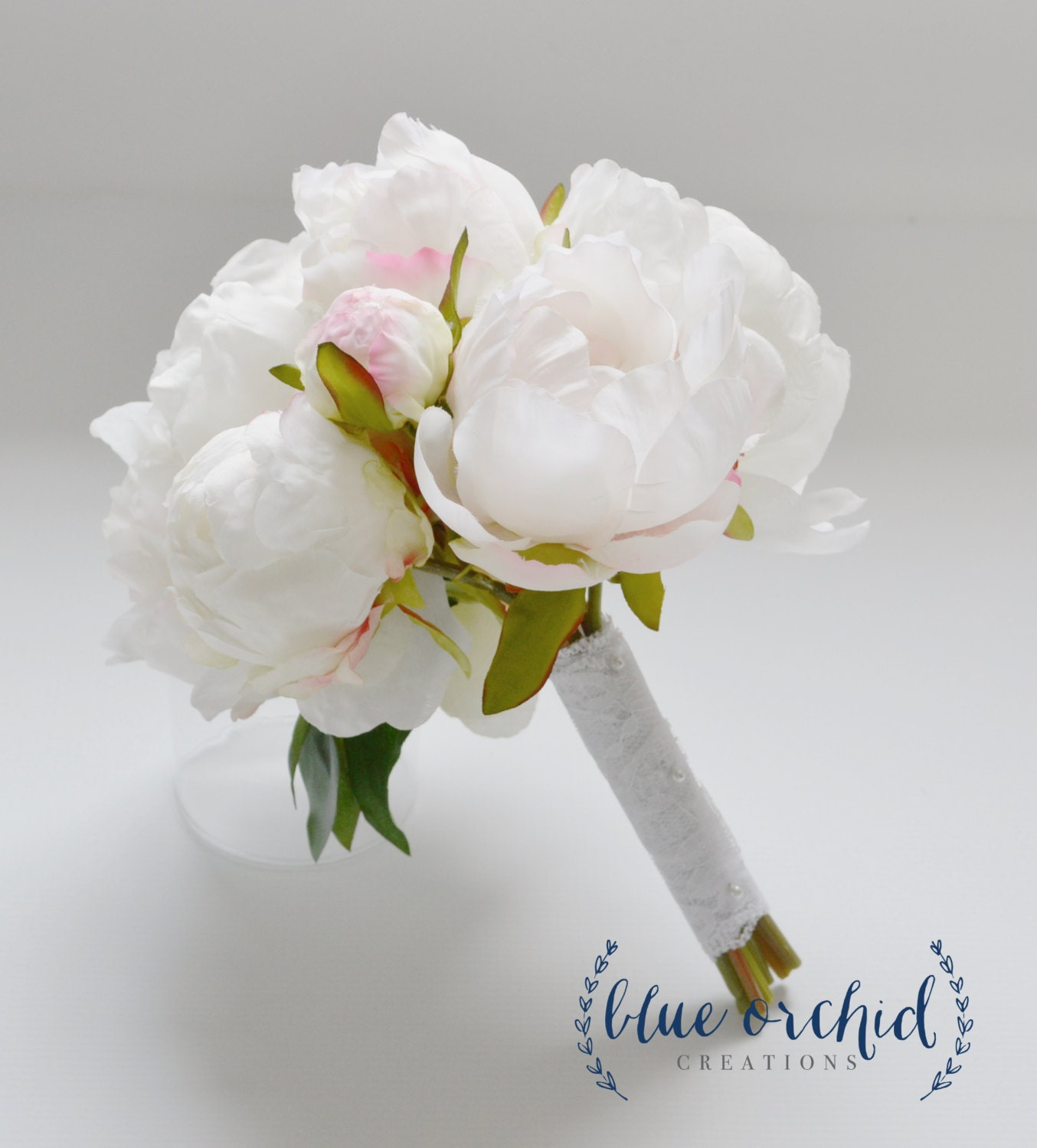 Small White Peony Bouquet Peony Bouquet in Cream White