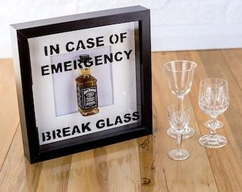 In case of emergency break glass- novelty Jack Daniel's picture