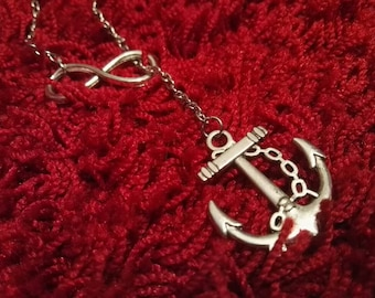 Infinity Anchor Necklace For Her Women Jewellery