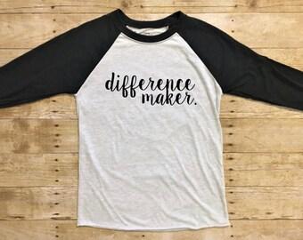 Teacher gift, Teacher shirt, Teacher Appreciation, Gifts for teachers, Difference Maker, Educator gift, Special education, Make a Difference