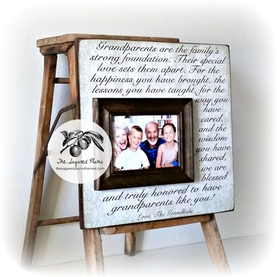 Personalized Grandparents Picture Frame Grandparents Gifts