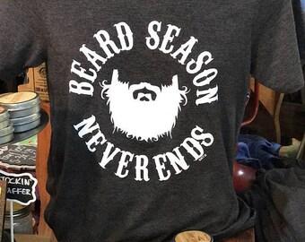 Beard Season Never Ends Tee