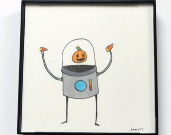 Halloween Robot - Original Sketch