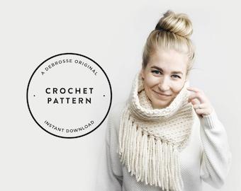 CROCHET PATTERN ⨯ 3 Looks ⨯ Infinity Cowl Scarf, Tassel Fringe ⨯ The L'acul