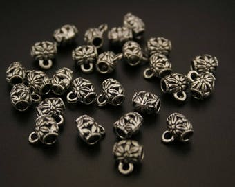 35 bails in antique silver. (ref:3358).