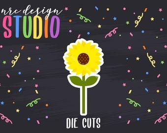 SALE Flower Die Cuts Printable, Sunflower Die Cuts, Spring Printable, Scrapbook Die Cuts