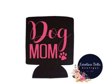 Dog Mom Collapsible Can Cooler
