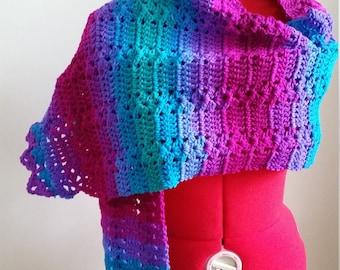Crochet Scarf Wrap, Over Sized Scarf, Scarf Wrap, Extra Long Scarf Wrap, Shawl Wrap
