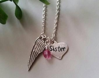 Memorial necklace /personalized Fine Silver