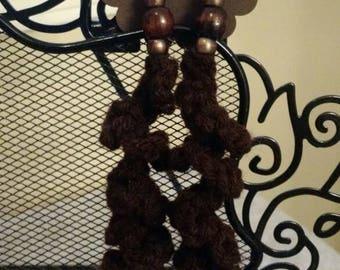 Brownie Flower Spiral Dangle