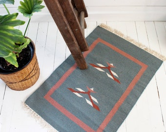 Southwestern Pastel Accent Rug - Vintage Wool - 2' x 2.9'