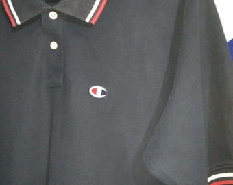 Vintage Champion Polo Shirt Ringer Original