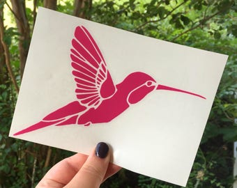 Humming bird car decal, humming bird car sticker, humming bird decal, humming bird decal, vinyl decal, vinyl sticker, bird decal,bird