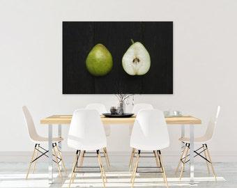 d'anjou v. two // food photography print // kitchen decor // dining room // canvas art // canvas print // rustic farmhouse wall art