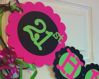21st Birthday Decorations Personalization Available