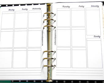 A5 - Half Letter Inserts - Vertical Layout Inserts - Vertical Personal Planner Inserts - Personal Planner - Planner Inserts