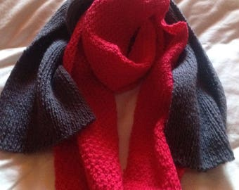 Set of two scarves hand knitted kids