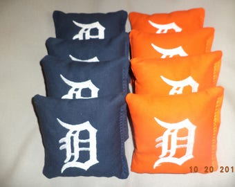Cornhole bags Detroit Tigers corn hole Bean Bags baggo tailgate toss bags
