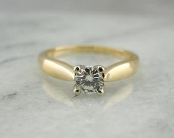 Contemporary Diamond Engagement Ring, Diamond Solitaire with Diamond Studded Prongs, WHELE0-N