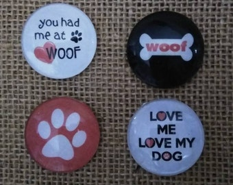 You Had Me At Woof Magnets - Dog Lover Magnet Set - Refrigerator Magnets - Birthday Gift -