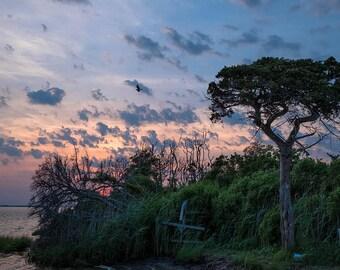 Sunset,Coastal Decor,Fine Art Print, Photography, Wall Art,Island Beach,Nature