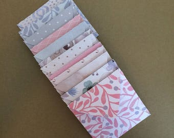 12 - Small Square Envelopes Made With Assorted Patterened Papers E3