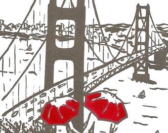 San Francisco Love gocco art print- GRAY