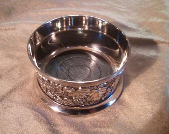 Silverplate Wine or Bottle Coaster...Free Shipping!