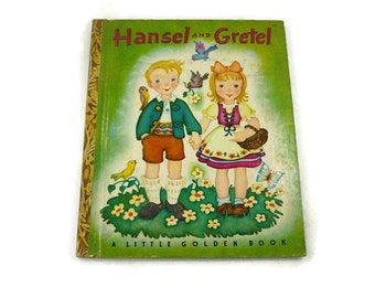 """Hansel and Gretel Vintage Little Golden Book Copyright 1943 9th or """" I """" Edition"""