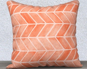 Coral Pillow Cover, Coral Accent Pillow, Coral Pillow, Coral Lumbar Pillow, Coral Nursery Pillow, Coral Throw Pillow,, Boho Nursery Pillow