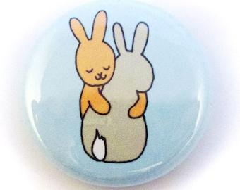 Bunny Hugs Button