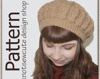 Classic Cables Ladies Tam - Crochet Pattern