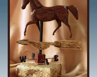 Musical Carved WeatherVane Horse
