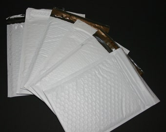 50 6x9 White Bubble Mailers Size 0  Padded Self Sealing Shipping Envelopes