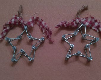 Handcrafted star ornaments