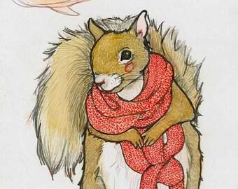 Squirrel 4 x 6 Notecard